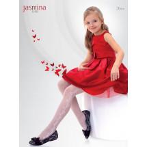 """Колготки нарядные белого цвета """"JASMINA"""""""