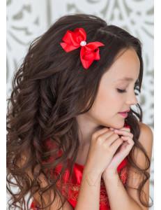 """Зажим для волос красного цвета """"Виктория"""" (2шт)"""