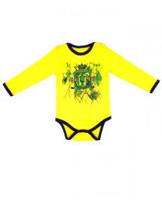 """Боди для малышей желтого цвета с длинным рукавом """"Golf"""""""