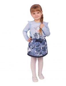 "Комплект голубого цвета юбка и блуза ""Фея"""