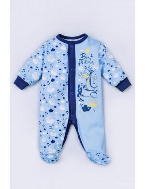 """Комбинезон синего цвета для малышей """"Жираф"""""""